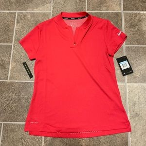 Nike Golf Dri-Fit Zip V-Neck Tee